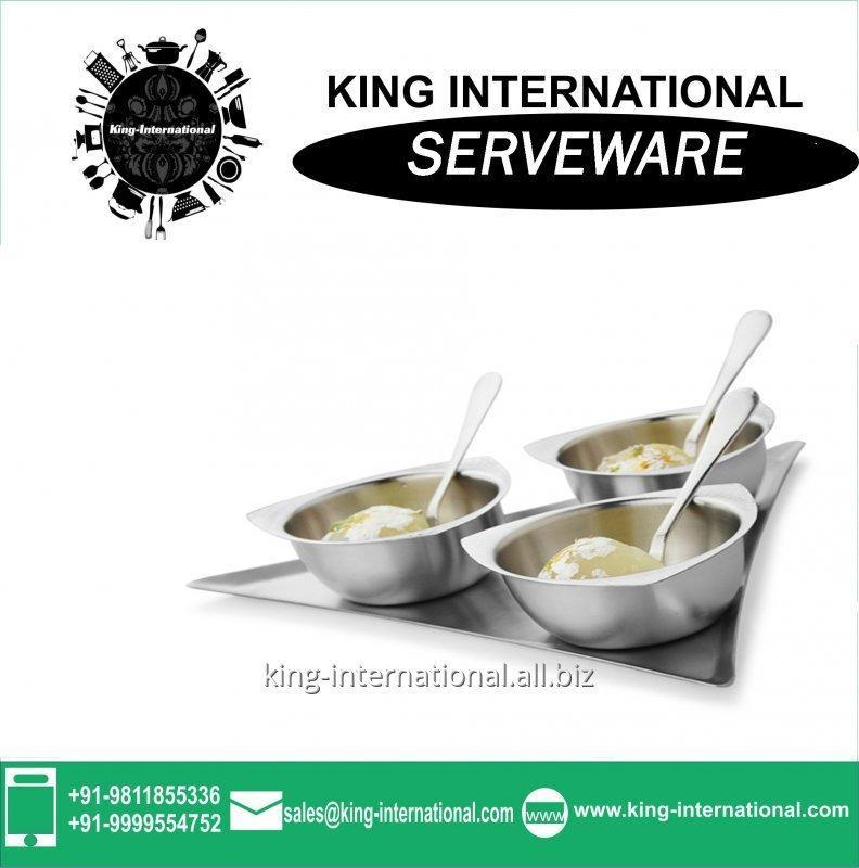 Buy Stainless steel Serving Set and size