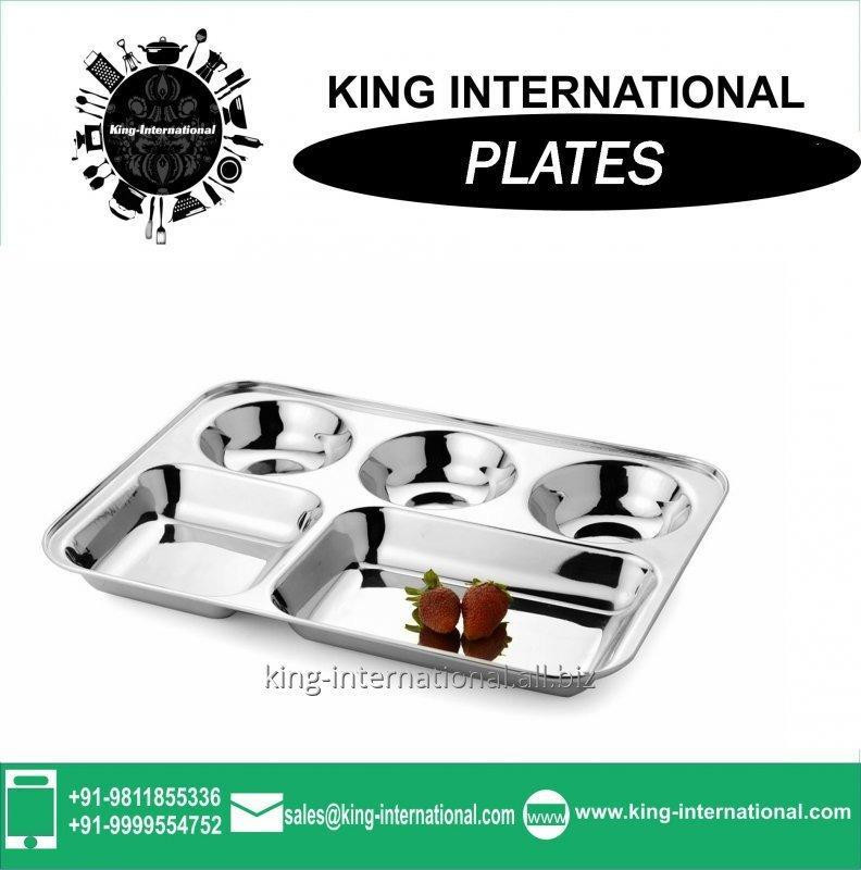 Buy Mess tray wholesale stainless steel school rectangle tray