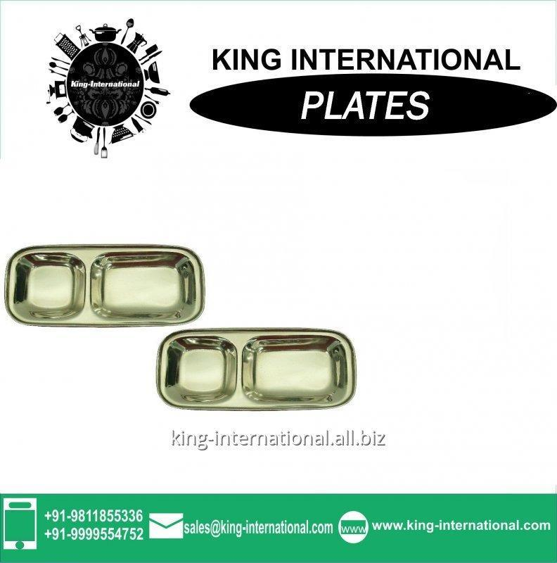 Buy New style Stainless Steel Square Mess Fast Food Tray