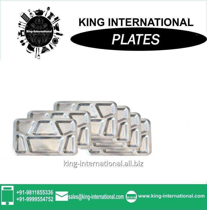 Buy Stainless steel compartment dinner plate