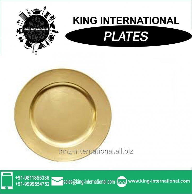 Buy Oval design stainless steel dinner plate