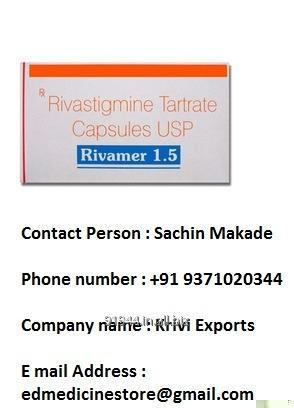 Buy Rivamer Tablet-used to treat mild-to-moderate dementia caused by Alzheimer's disease (Pharmaceutical Tablets)