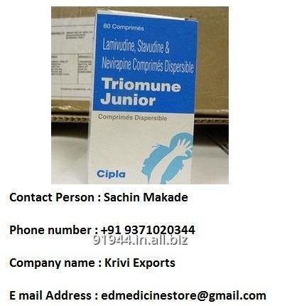 Buy TRIOMUNE JUNIOR 60MG/12MG/100MG TABLET