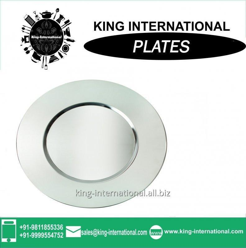 Buy Durable stainless steel round Mess plate