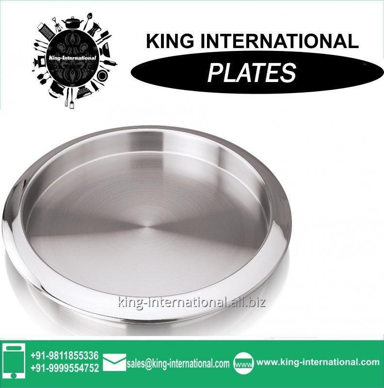 Buy High Quality Flower Mirror Stainless Steel Mess /Dinner Plate