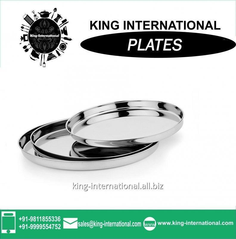 Buy 22 cm Stainless Steel wedding Mess plates