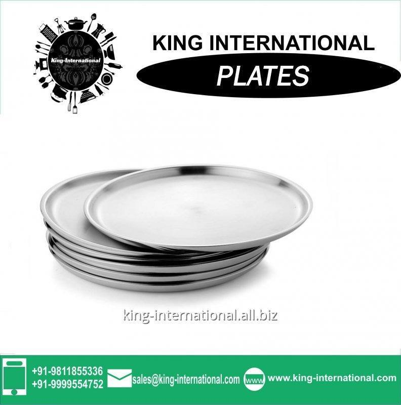 Buy 24cm stainless steel Mess plates wholesale