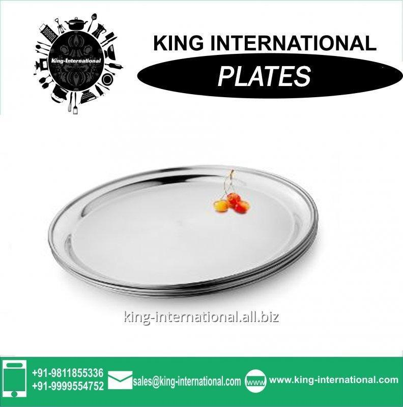 Buy 26-30cm Round Restaurant Stainless Steel Plate