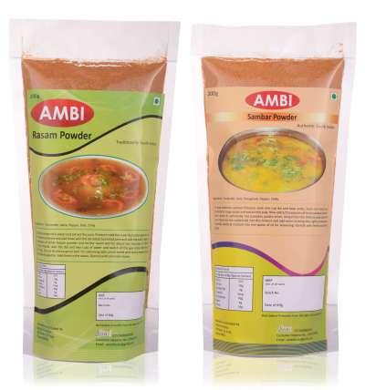Buy AMBI SAMBAR POWDER + AMBI RASAM POWDER