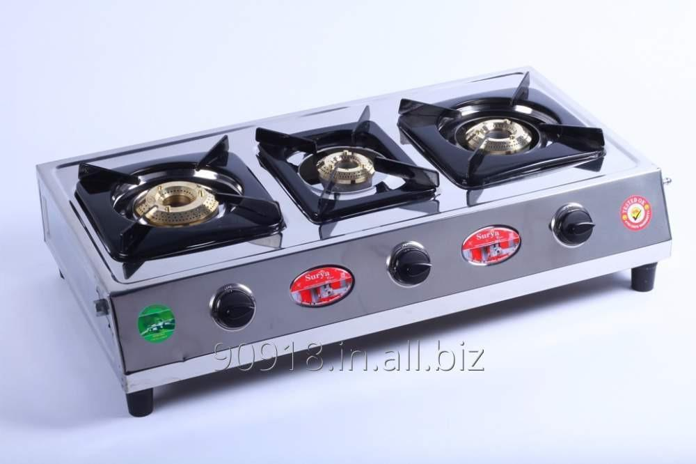Buy 3 Burner stove Stainless Steel Gas Stove