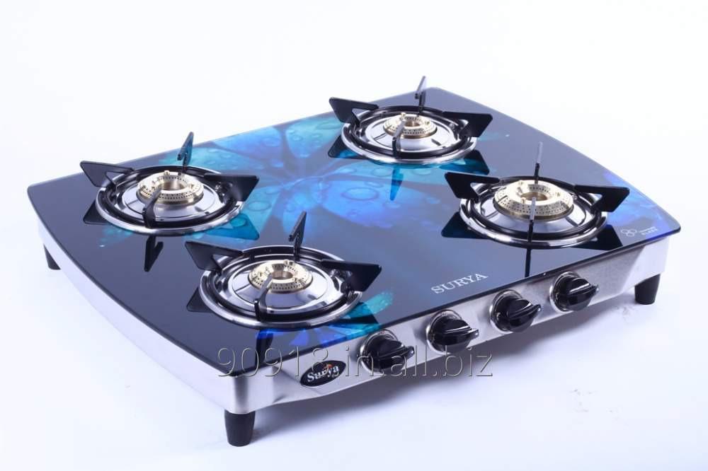 Buy 4 Burner stove Glass Top Gas Stove