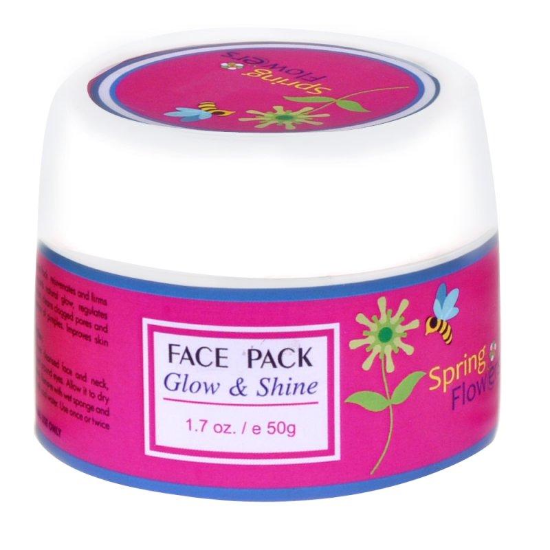 Buy Spring Flower Glow & Brightening Face Pack Zenvista Meditech