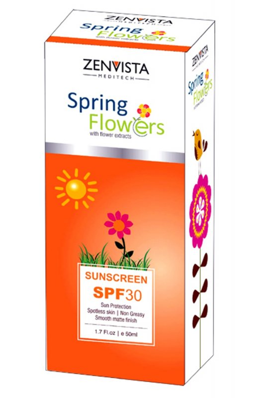 Buy Spring Flower sunscreen Zenvista Meditech