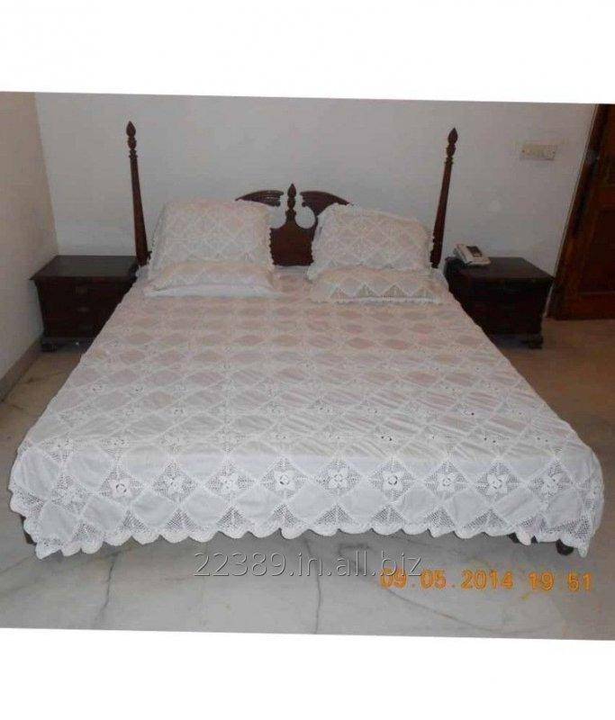 Buy Linen Lace Bed Cover