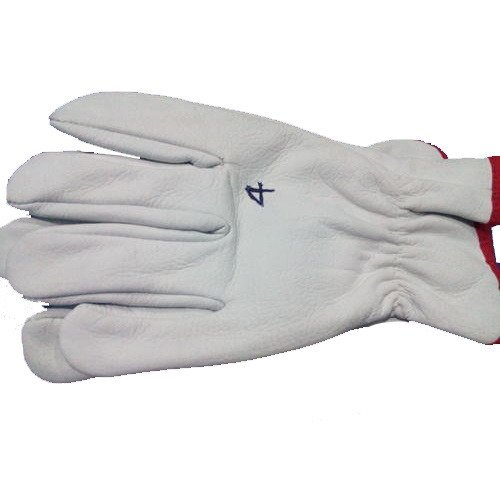 Buy  White Leather Gloves