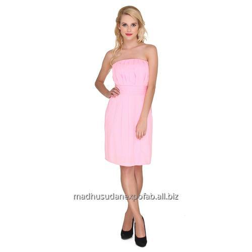 Strapless Box Pleat Dress