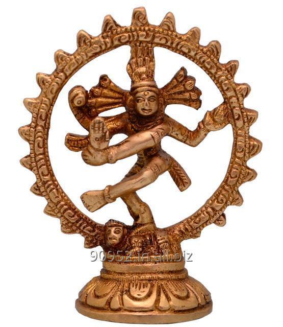 Purpledip Nataraja (Lord Shiva Mahadev In Dance Pose) Brass Statue