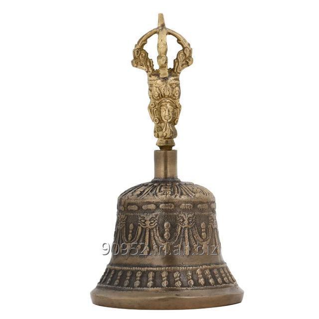 Spiritual Buddhist Tibetan Brass Bell with Dorje Handle