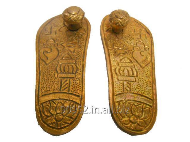 Purpledip Brass Padukas / Charan: Impression Of God's Footprints