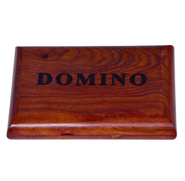 Purpledip Dominoes Game Set: Handmade from Rosewood with 28 Wooden Tiles