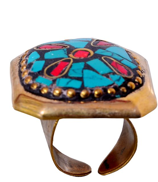 """Buy Vintage Collection Cocktail Ring For Women """"Marine Beauty"""" (30011)"""