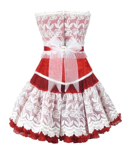Buy Authentic Steel Boned Valentince Overbust Corset Dress