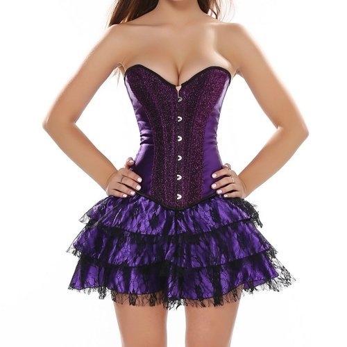 Buy Sequined Overbust Corset Dress