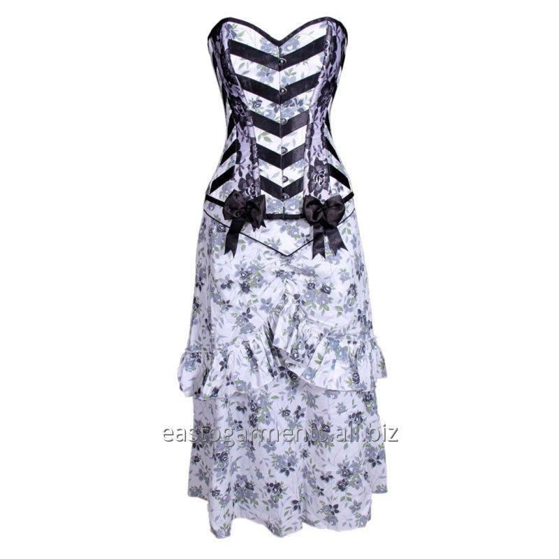 Buy Dark Blossom Overbust Corset Dress