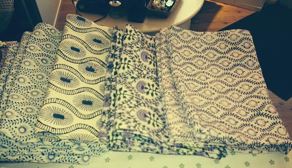 Buy Block print tea towels