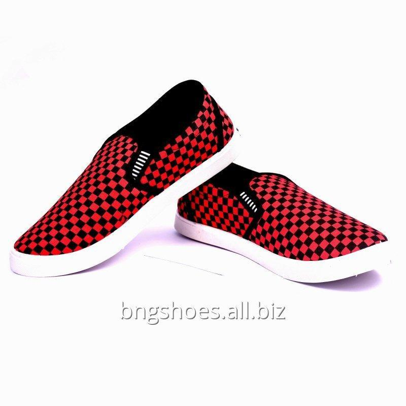 RED BLACK CANVAS SHOES