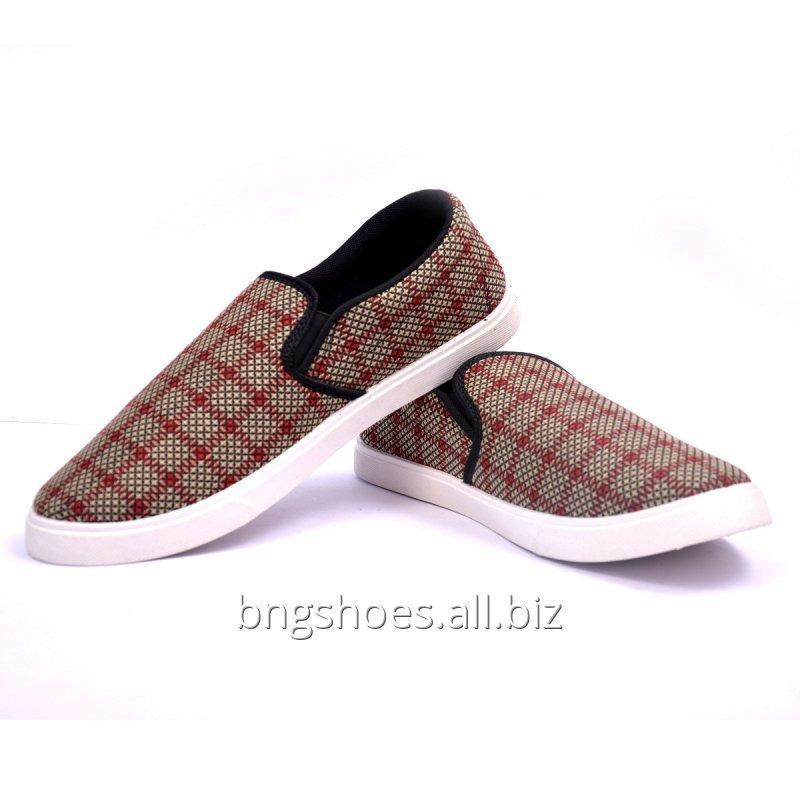 BLACK RED CANVAS SHOES