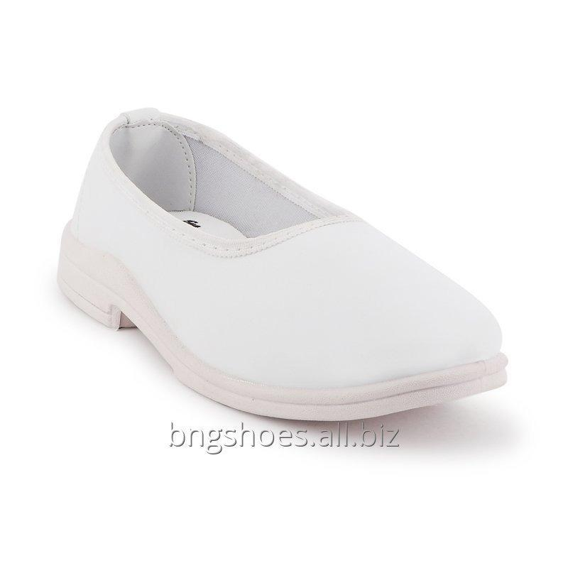 WHITE SCHOOL BELLY SHOES (8X10), (11X13)