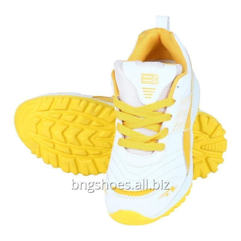 WHITE-YELLOW SPORTS SHOES
