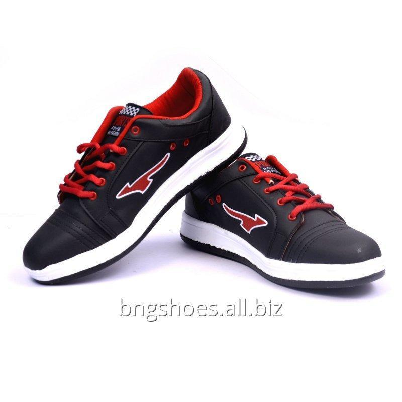 GRAY-RED SPORTS SHOES