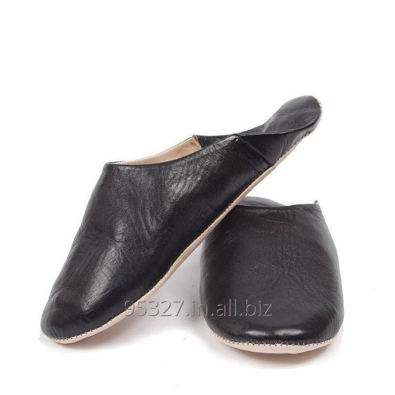 Buy Men's Leather Babouche Slippers