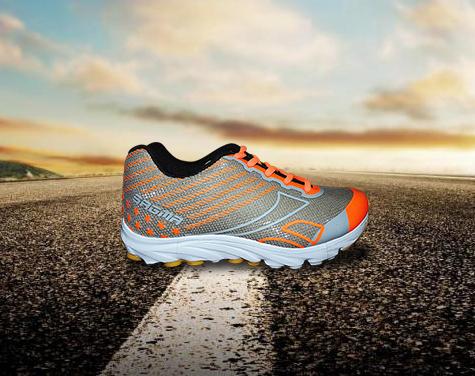 Grey Orange Sports Shoes
