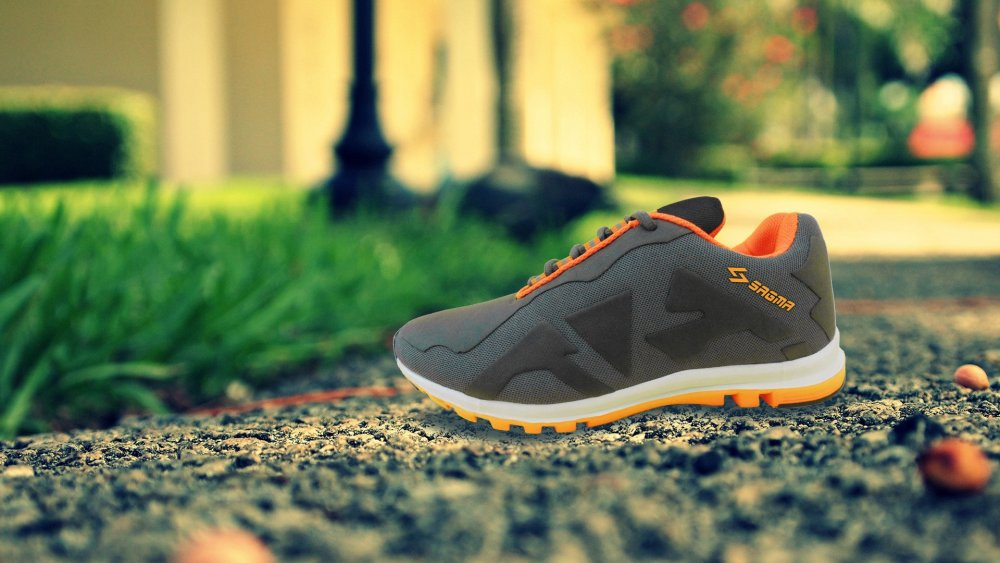 Black Orange casual shoes