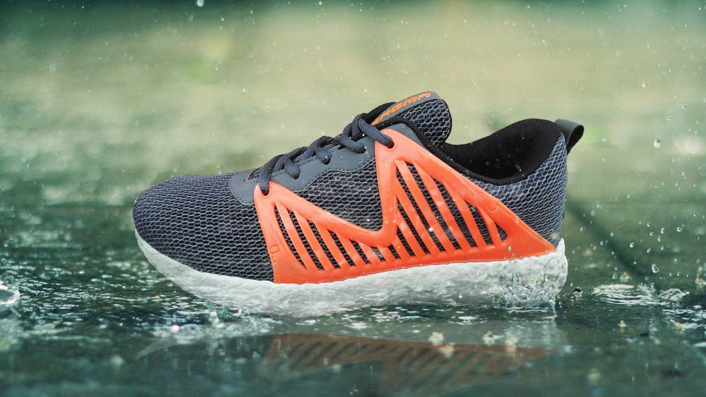 Orange-Black Sports shoes