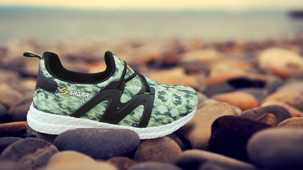 Green Casual Running Shoes