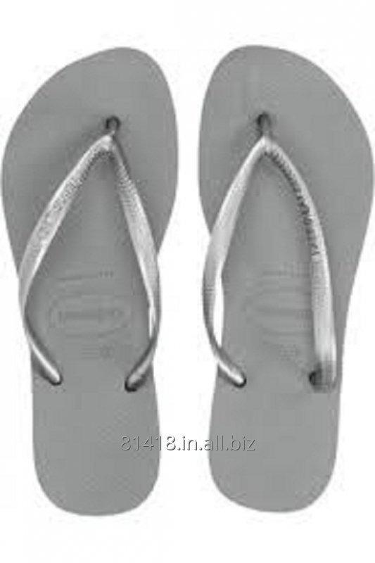 Buy Stylish Silver Rubber Slippers