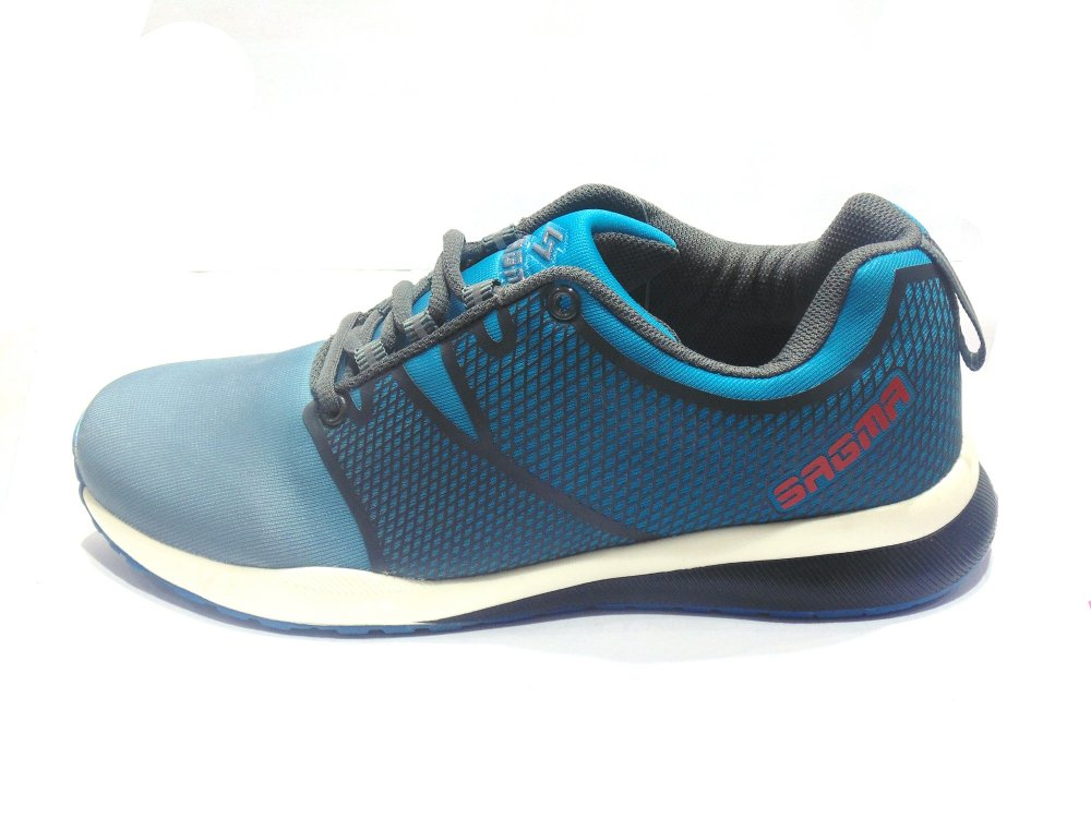 Buy Grey-Sea Green Sports Shoes