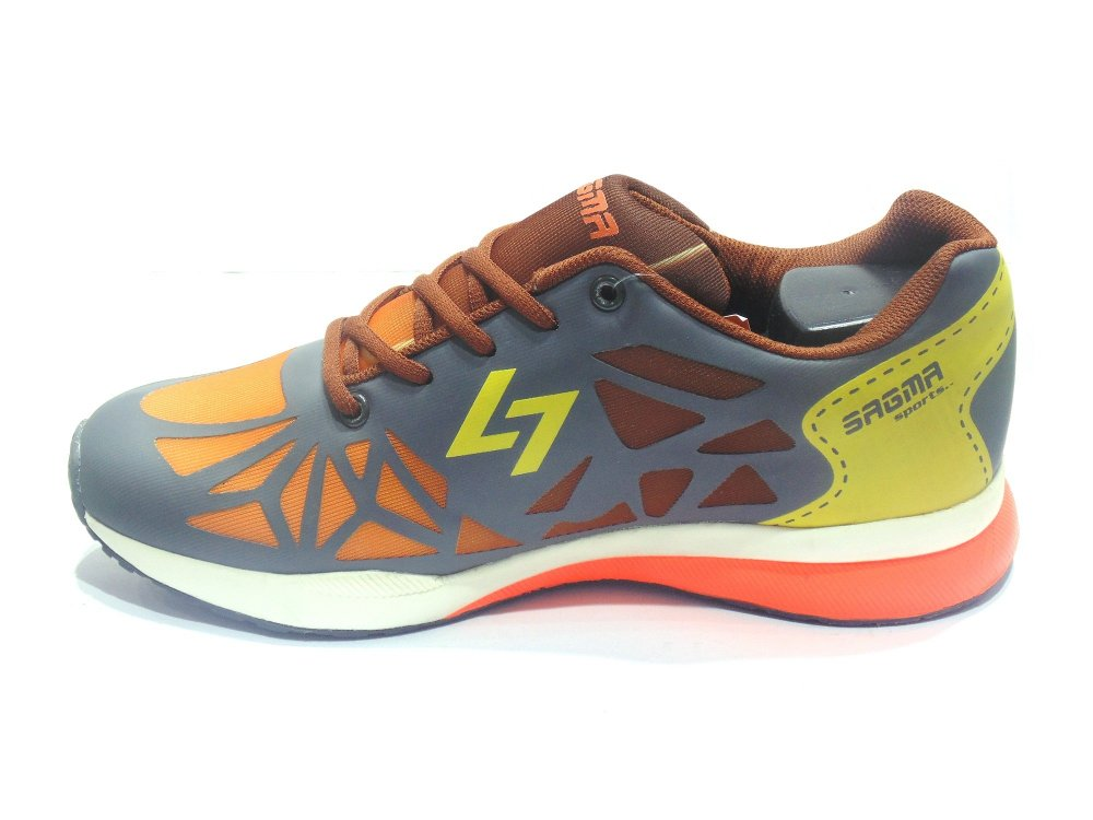 Orange-Brown Sports Shoes