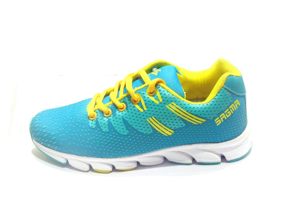 Sea Green-Yellow Liana Women's Sport Shoes