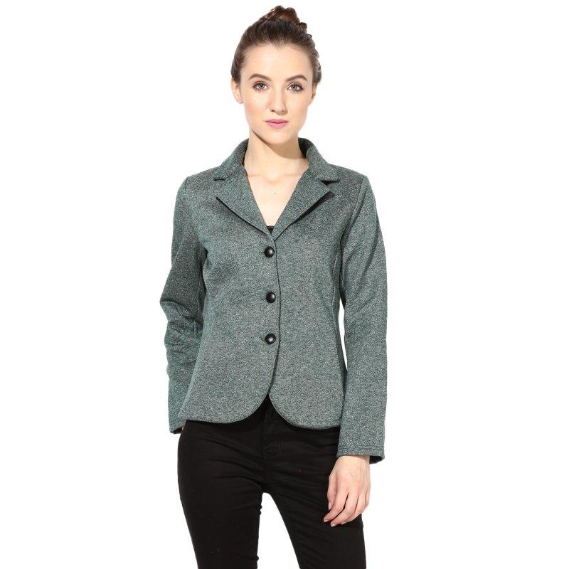 Green polar fleece jacket