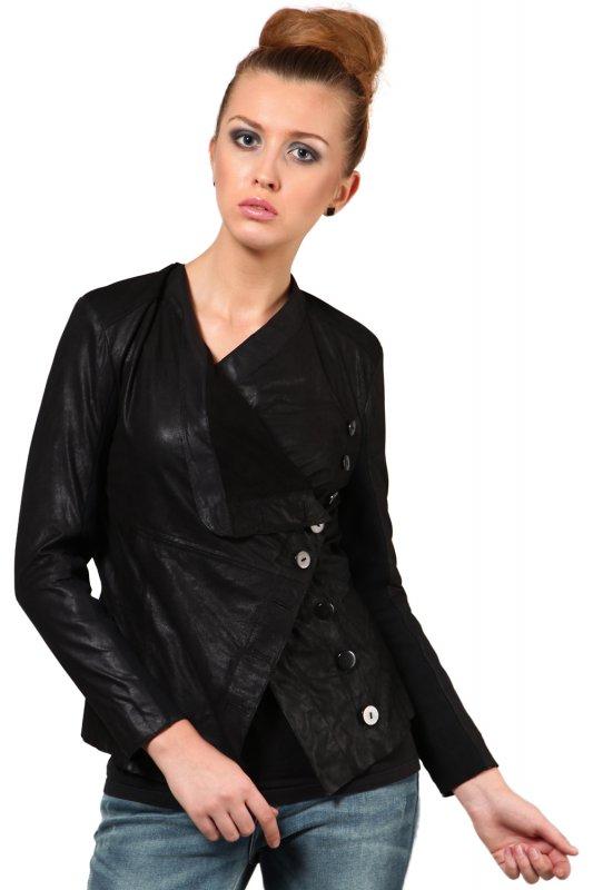 Leather jacket in black color