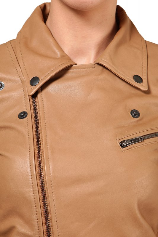 Leather jacket in Tan color