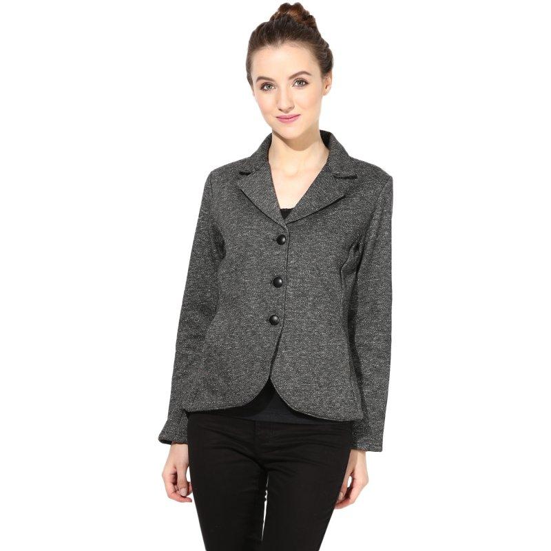 Charcoal grey polar fleece jacket