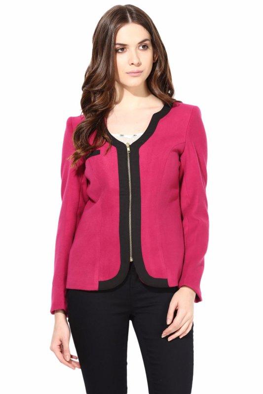 Pink felt jacket
