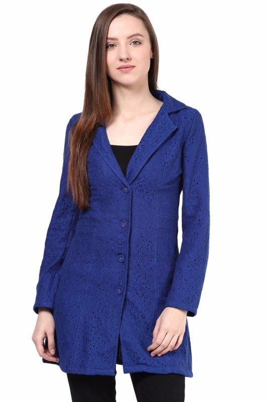 Blue lace  jacket