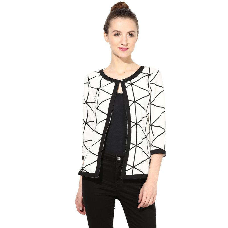 Black and white shrug